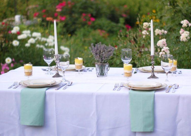 lavender tea party - white on white