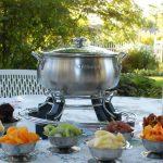 chocolate fondue garden party