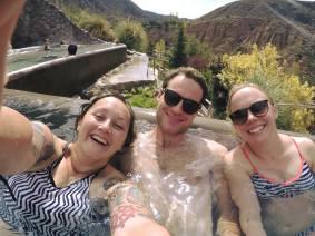 Hot spring in Mendoza, Argentina