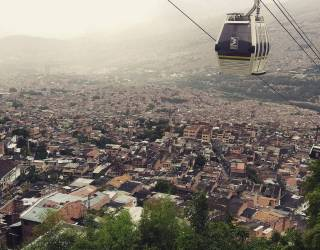 An aerial view of Medellin, Colombia