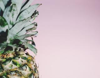 Pineapple on a pink background
