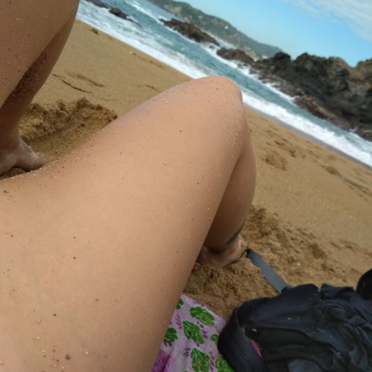 Nudist on a beach