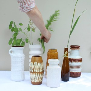 vintage vazen west germany in groep