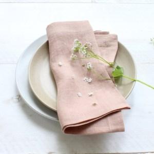 Linnen servet Gabrielle Paris roze