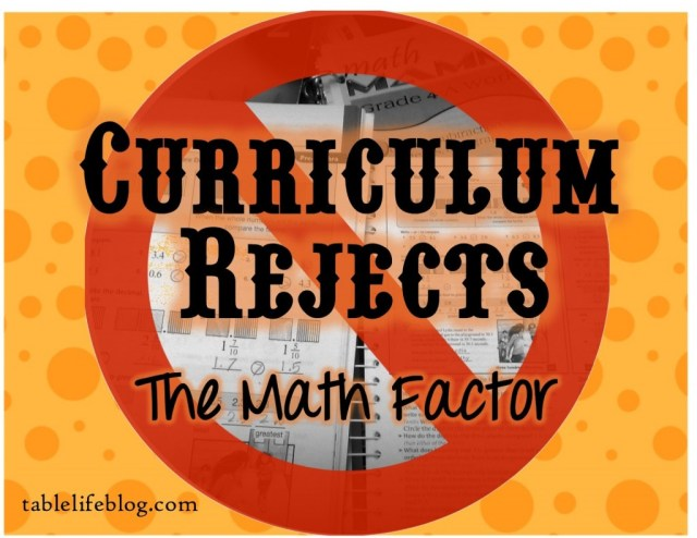 Homeschool Curriculum Rejects - The Math Factor