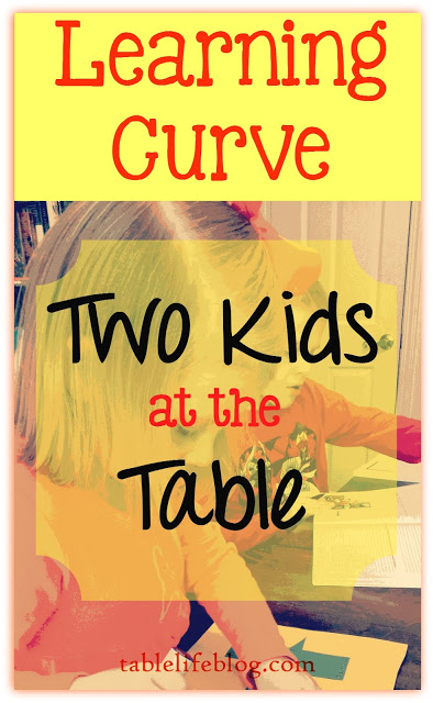Learning Curve: Two Kids at our Homeschool Table