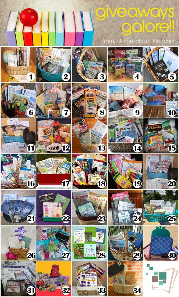 iHomeschool Network's Back to Homeschool Gift Basket Giveaways