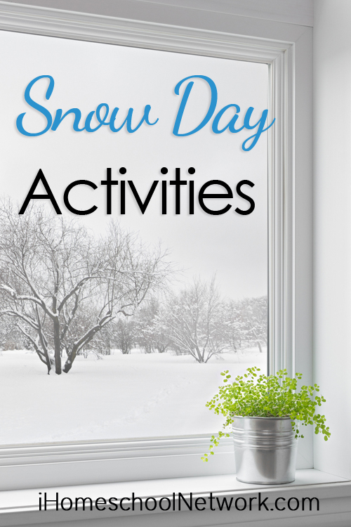 How to Homeschool on the Wish It Would Snow Days ~ Snow Days Activities from iHomeschool Network