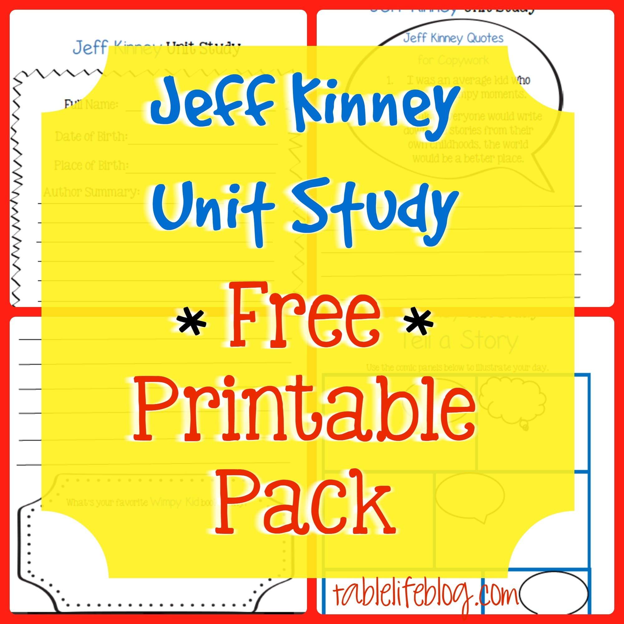 Jeff kinney unit study tablelifeblog solutioingenieria Choice Image