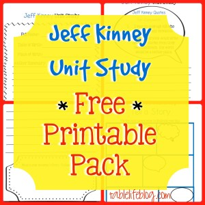 Jeff Kinney Unit Study - Free Printable Pack