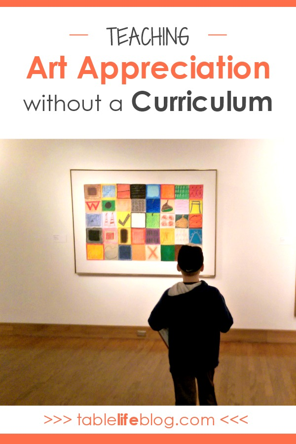 Teaching Art Appreciation without a Curriculum