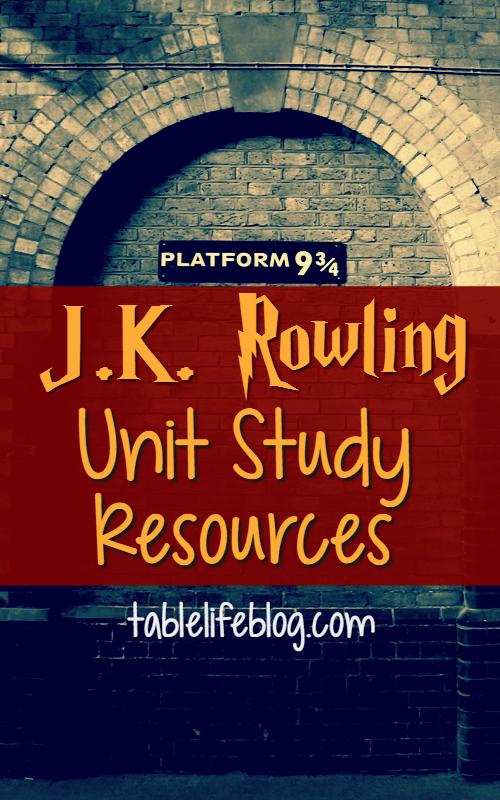 J.K. Rowling Unit Study Resources
