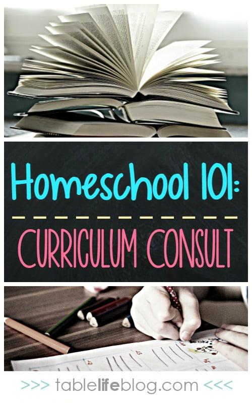 Homeschool 101 - Homeschool Curriculum Consult