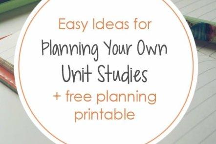 Unit Study Planning Tips (+ Free Planning Worksheet)