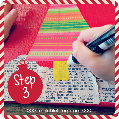 Christmas Tree Art ~ Easy Mixed Media Project for Kids
