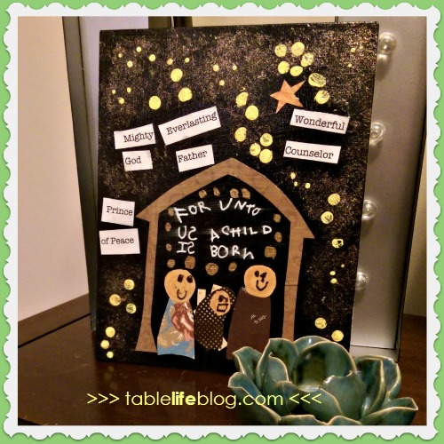 A Child Is Born Christmas Art ~ Mixed Media Project for Kids