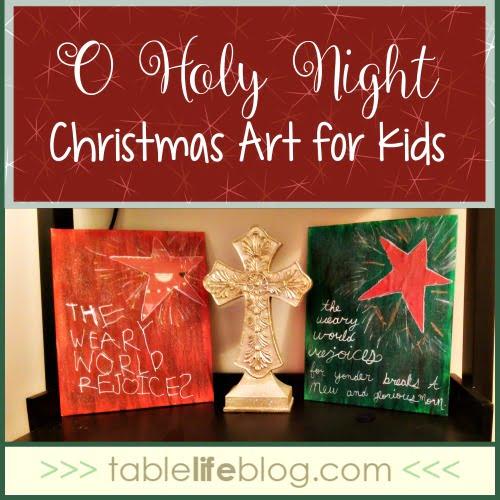 O Holy Night Christmas Art for Kids
