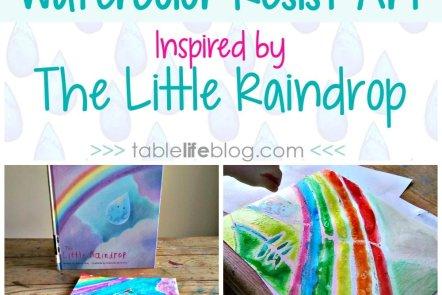 The Little Raindrop Watercolor Resist Art Project