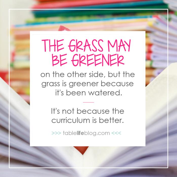 Defeating the Green-Eyed Homeschool Curriculum Monster