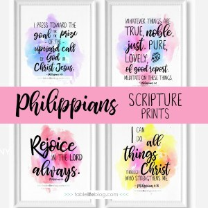 Printable Scripture Art Inspired by Philippians
