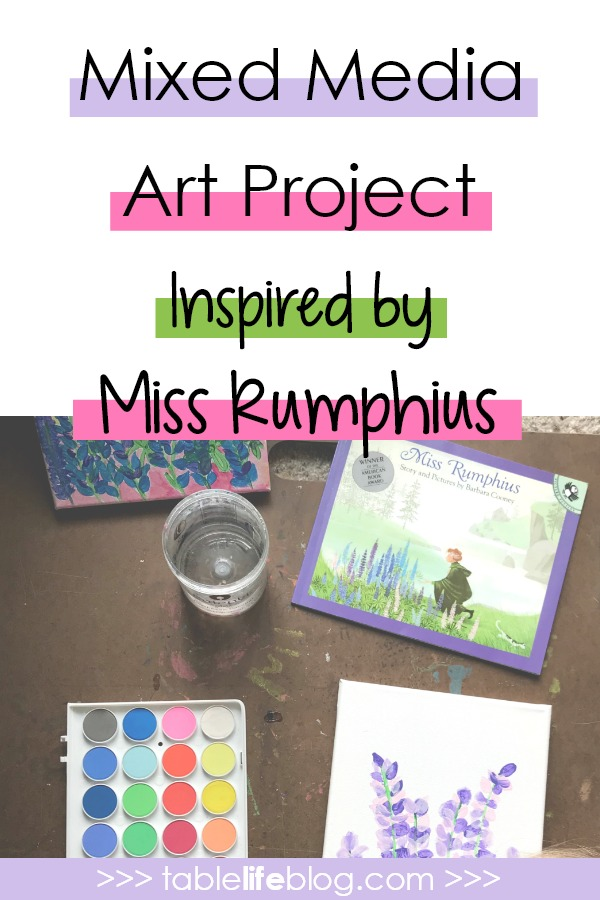 Make the World More Beautiful with Miss Rumphius Mixed Media Art