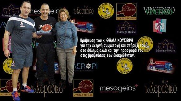 Ο Άρης Βούλας και η MKE Άνεμος, διοργάνωσαν την δράση της κλήρωσης δώρων με τα έσοδα να δίνονται στον Σύλλογο Αθλούμενων Νεφροπάθων.