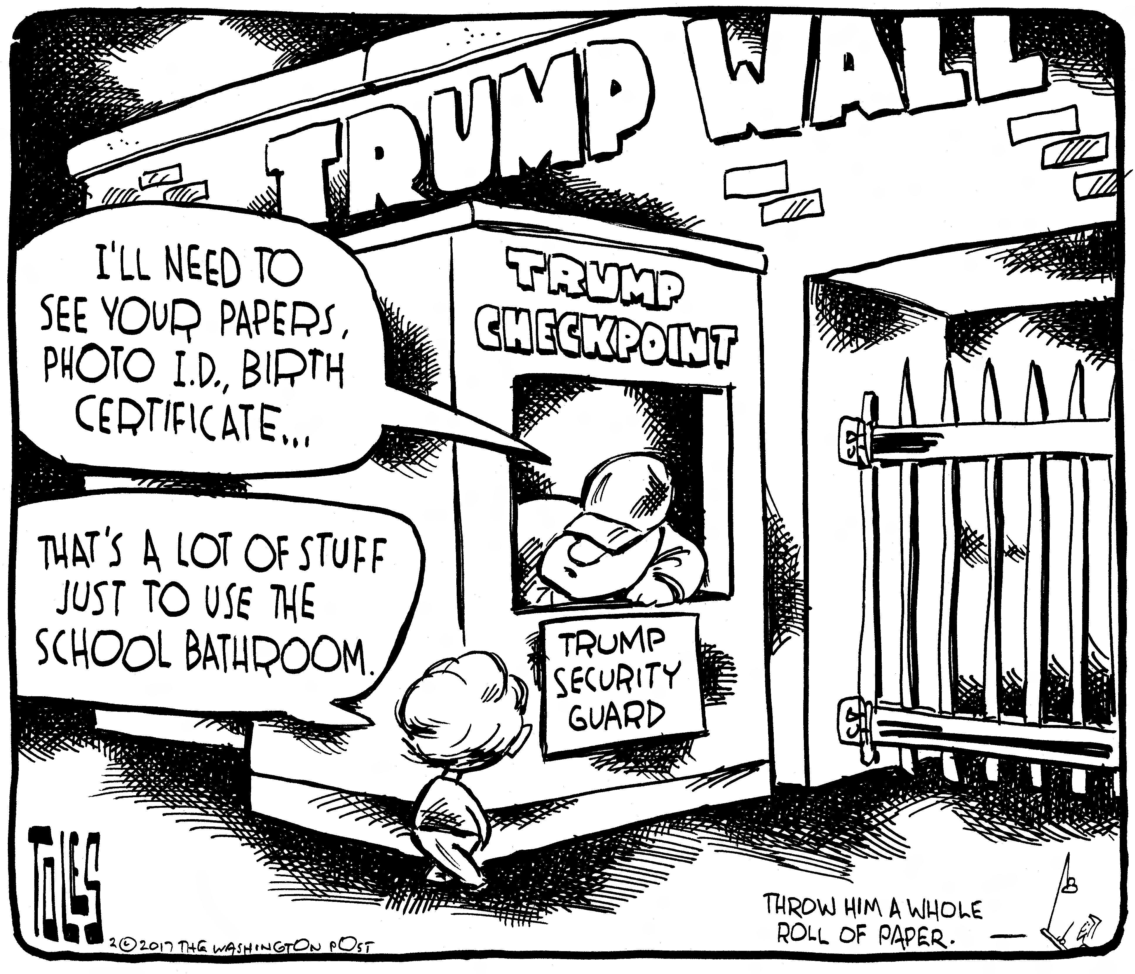 Tom Toles | Trump's new security state is finding threats where nobody looked before