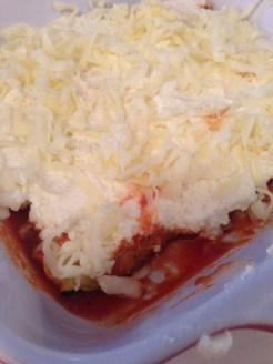 Add the layer of mozzarella