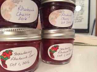Pretty jam in pretty jars
