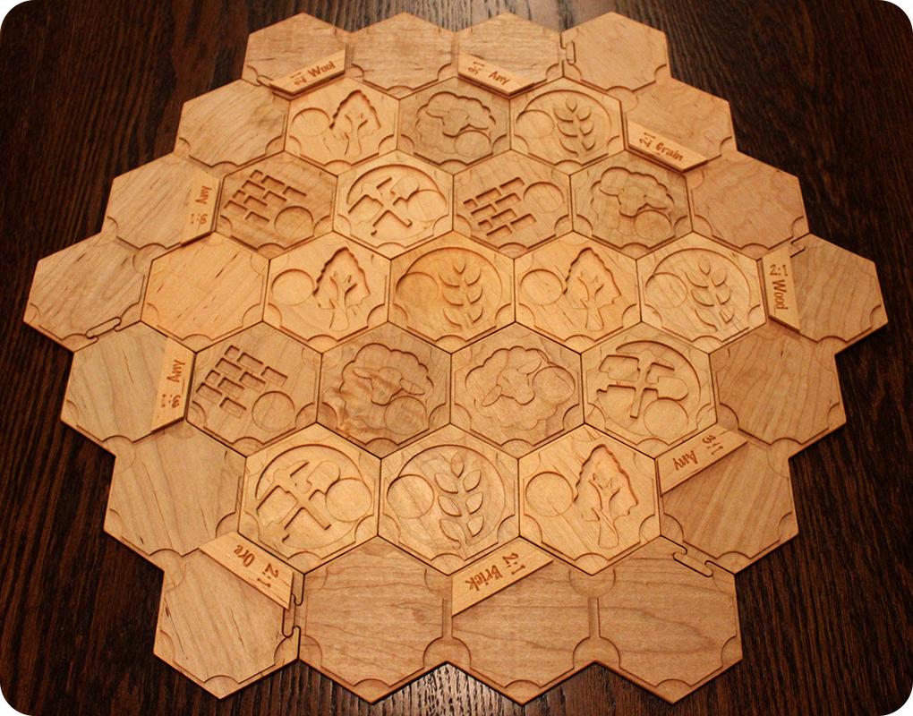 Catan - Wooden Tiles