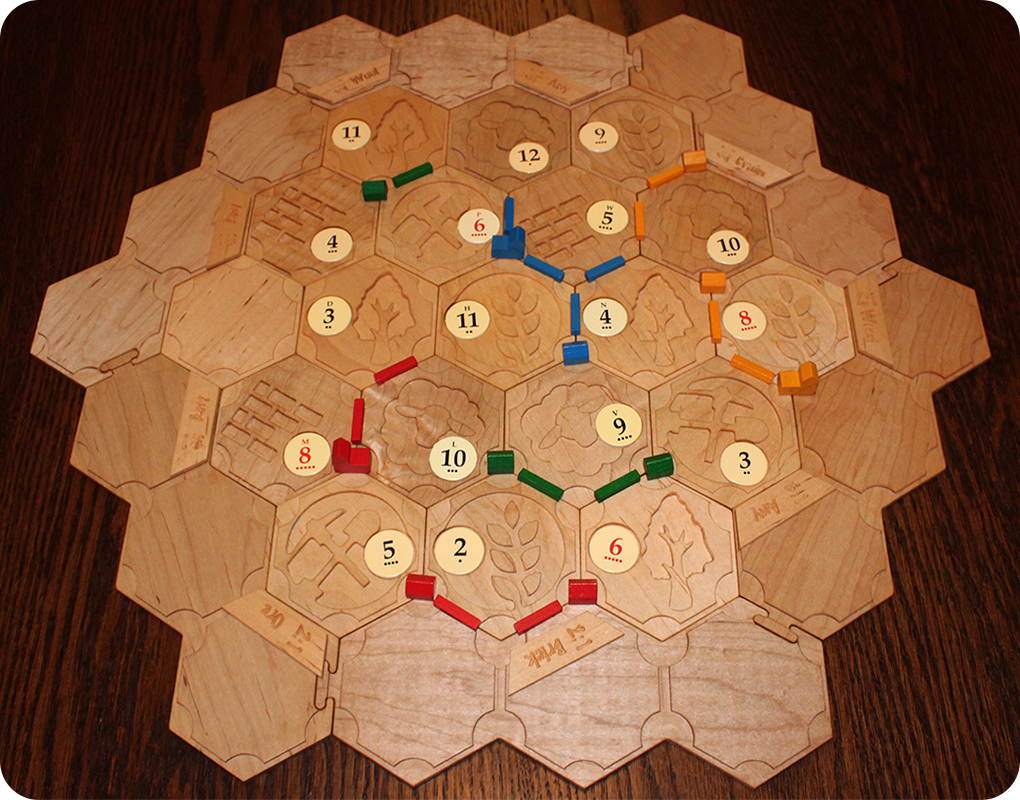 Catan - With Sample Pieces
