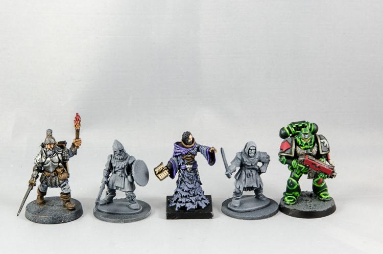 Frostgrave Soldiers Size Comparison / Größenvergleich