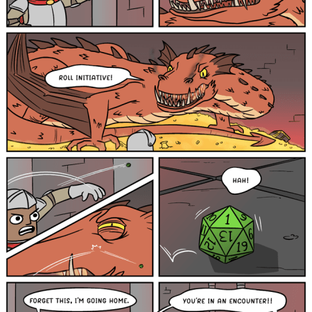 Roll Initiative - Comic