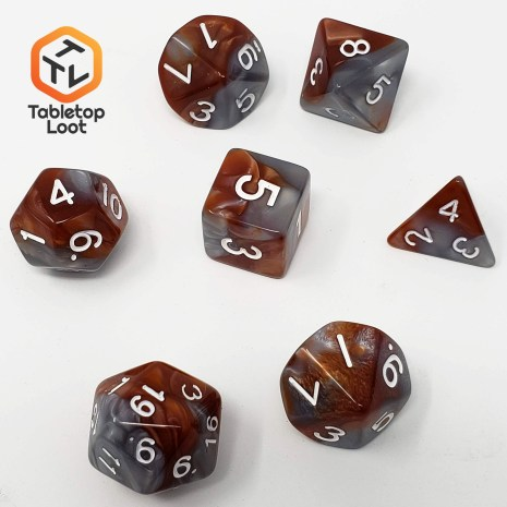 Tabletop Loot _Rusted Steel 2-dice-set-dice-dnd-dice-dd-dice-tabletop-dice-dungeons-and-dragons