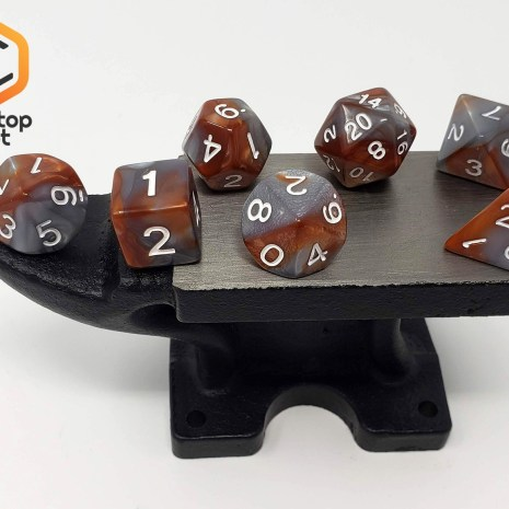 Tabletop Loot _Rusted Steel -dice-set-dice-dnd-dice-dd-dice-tabletop-dice-dungeons-and-dragons