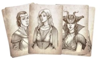 hand drawn D&D characters