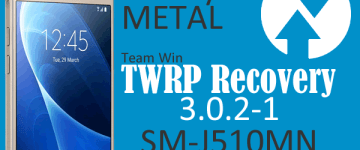 TWRP no Galaxy J5 METAL