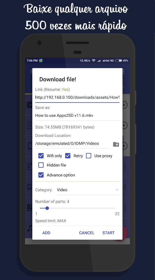 IDM+: Fastest download manager