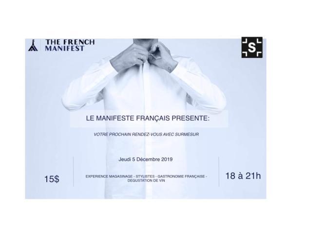 LE MANIFESTE FRANÇAIS PRESENTE: VOTRE RENDEZ-VOUS AVEC SURMESUR @ SURMESUR   Montréal   QC   CA
