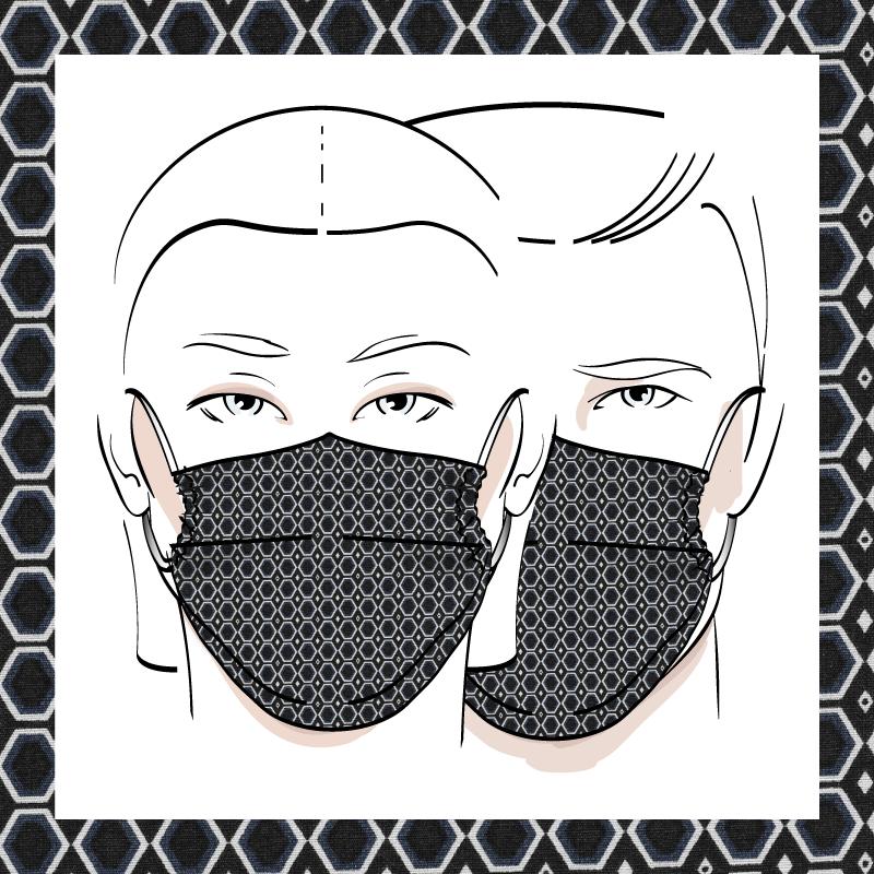 Couvre-visage 3 épaisseurs | Le 258