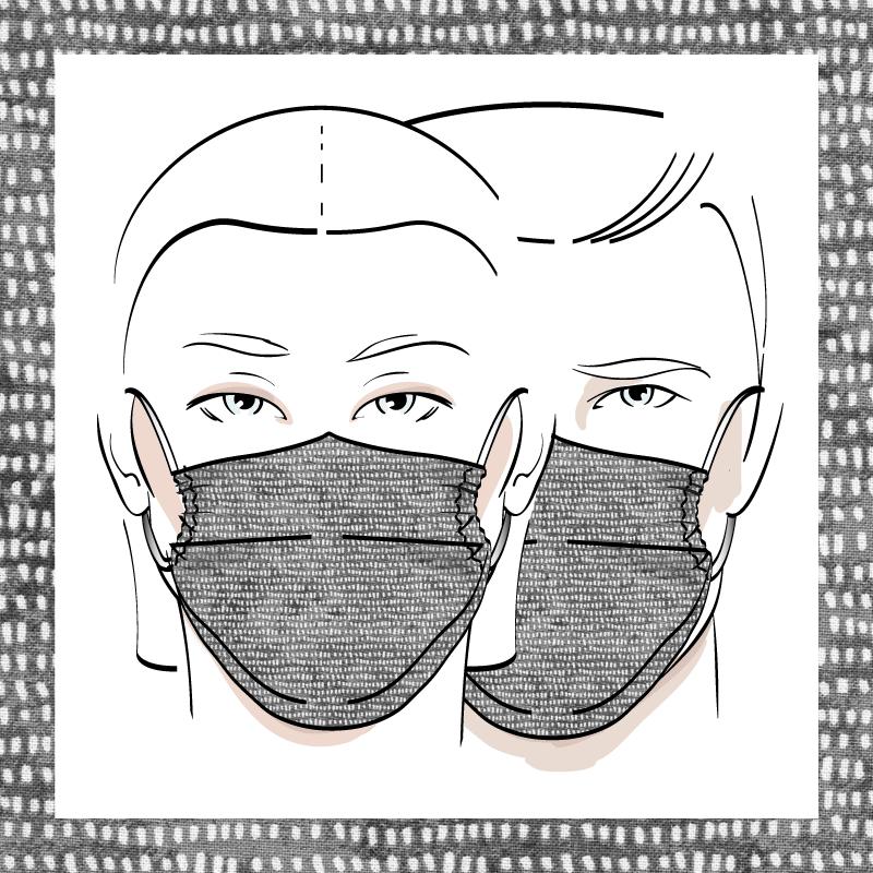 Couvre-visage 3 épaisseurs | Le 352