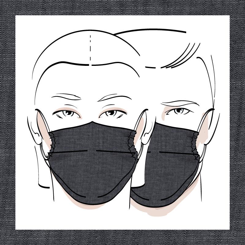 Couvre-visage 3 épaisseurs | Le 369