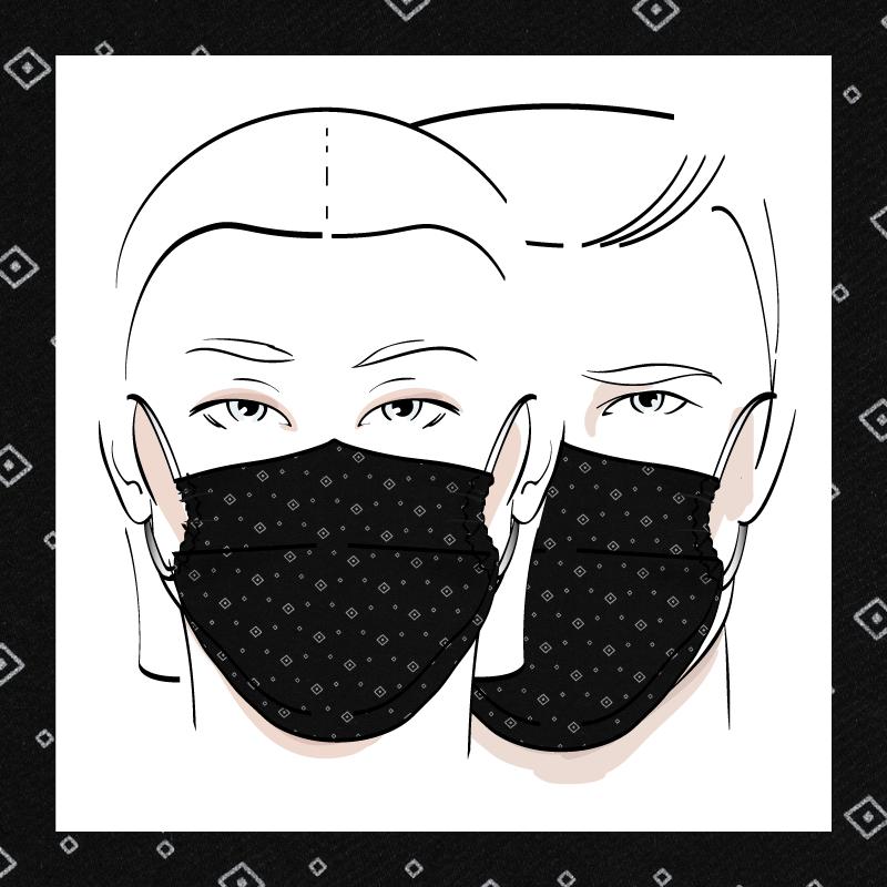 Couvre-visage 3 épaisseurs | Le 376
