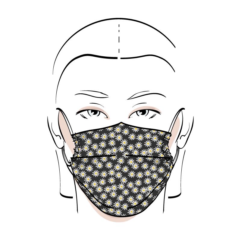 No. 420 – Couvre-visage 3 épaisseurs