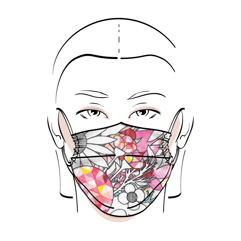 No. 421 – Couvre-visage 3 épaisseurs