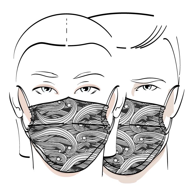 No. 423 – Couvre-visage 3 épaisseurs