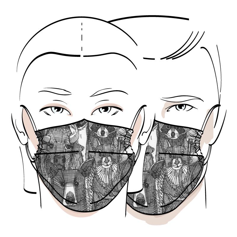 No. 426 – Couvre-visage 3 épaisseurs
