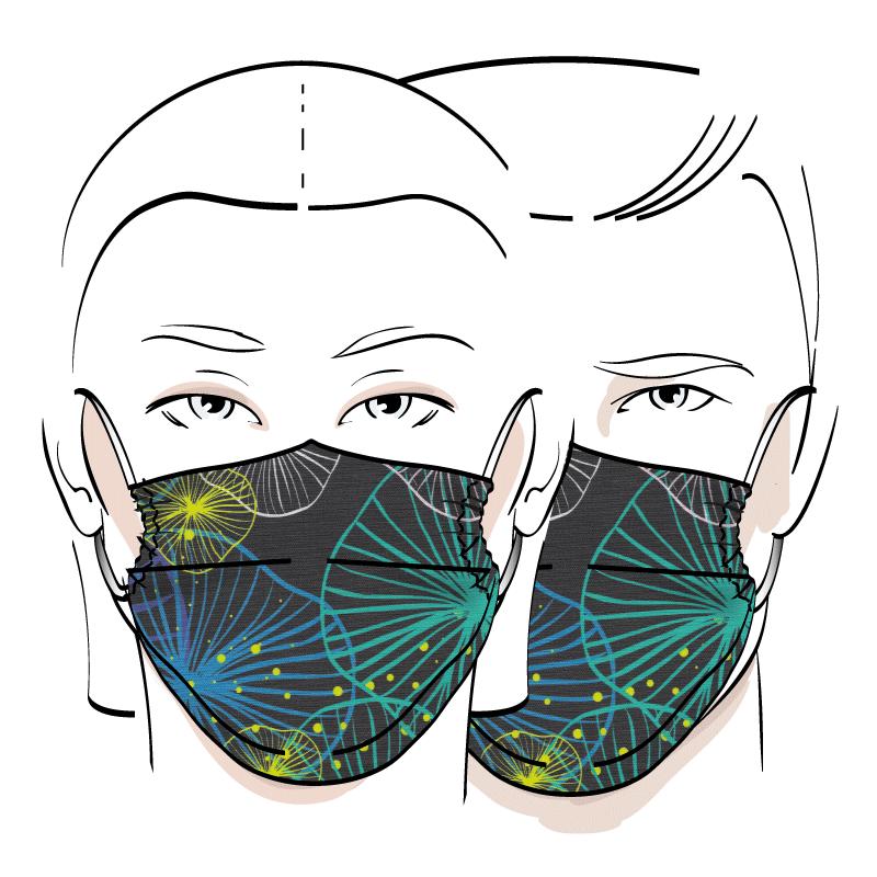 No. 428 – Couvre-visage 3 épaisseurs