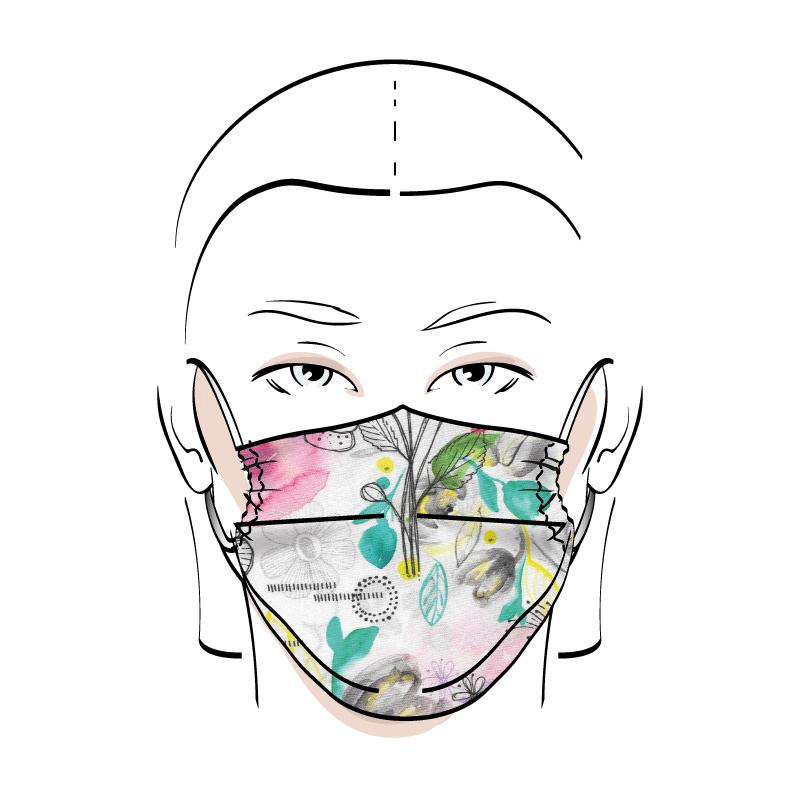 No. 435 – Couvre-visage 3 épaisseurs