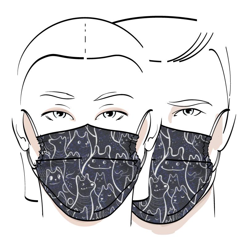 No. 437 – Couvre-visage 3 épaisseurs